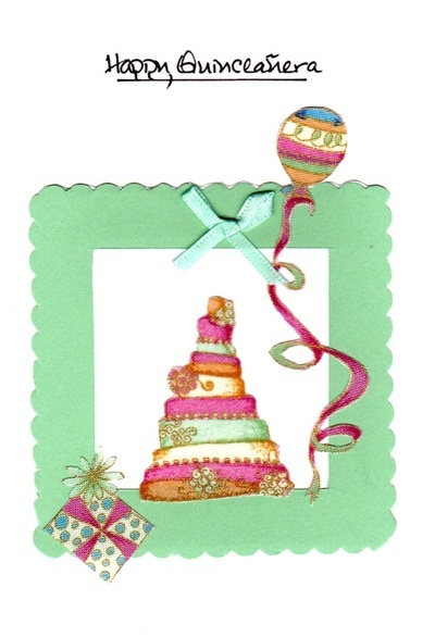 Happy quinceanera sweet wisher greeting card m4hsunfo