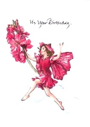 Flower fairy fabric birthday greeting card mightylinksfo