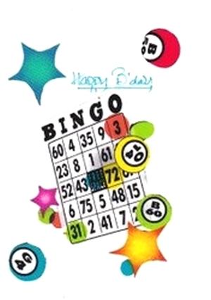 Fabric Birthday Card For The Bingo Lover