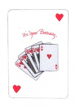Poker Hand Birthday Card And Message