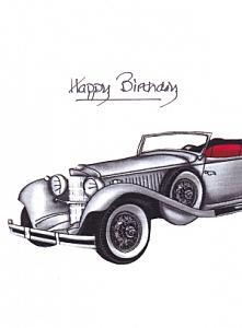Vintage car Gray