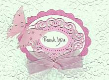 Special Die Cut Thank You greeting card and message