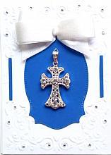 Special Religious Card of Rejoicing with a Cross Pendant