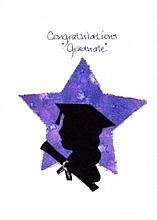 Graduation  Female Silhouette/ Star