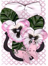 Special Birthday Card with pink pansies