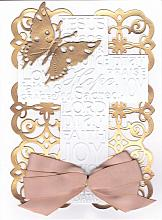 Special die cut Religious Congratulations or Appreciation card