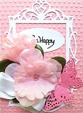 Special All Occasion Die Cut greeting card with message