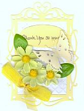 Special die cut Thank you greeting card