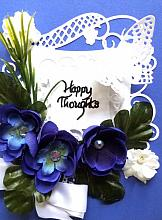 Special Birthday card with for happy thoughts