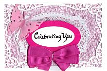 Special Celebrating You card in pinks