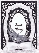 Beautiful Black and white any occasion greeting card