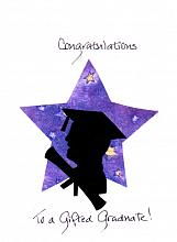 Graduation Male Silhouette on Star