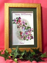 Framed Birthday Keepsake-Hummingbird