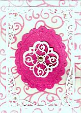 Pink and White die cut any occasion card