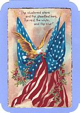 Stars and Stripes Note card