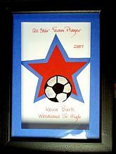 Sports-Framed Soccer Keepsake