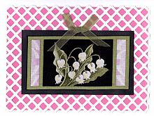 Lilies on Lattice Note Card
