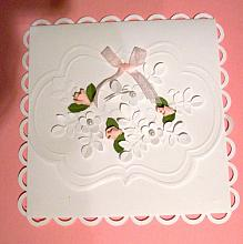 Gift Card Money Folder Pink flowers