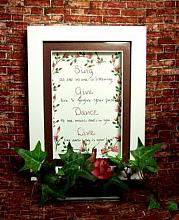 Hand painted Roses All Occasion Framed Keepsake